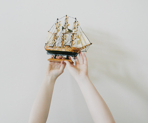 boat, ship, and hands image