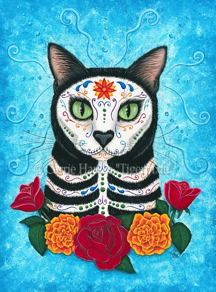 Tattoo Inspirationideas Day Of The Dead Cat Día De Los