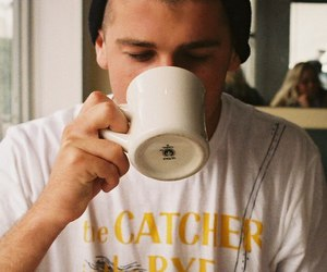 boy, cute, and coffee image