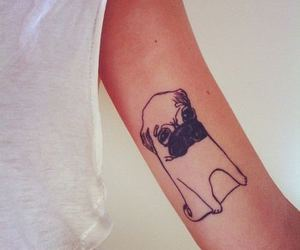 tattoo, pug, and dog image