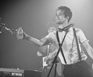 bden, black and white, and P!ATD image