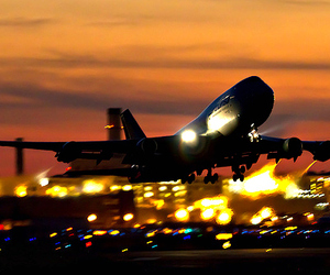 airplane and lights image