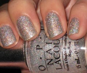glitter, grey, and nail image