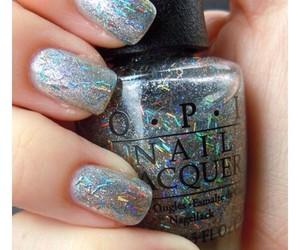 glitter, grey, and nail image