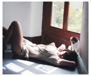 girl and cat image
