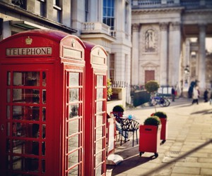 red, city, and london image