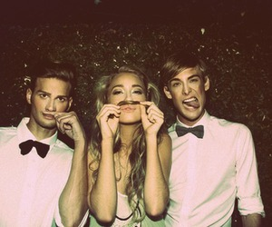 boy, girl, and friends image