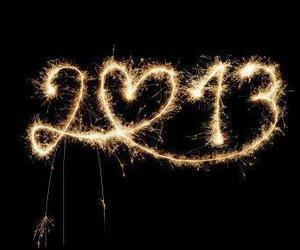 2013, new year, and light image