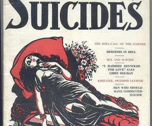 book, suicide, and book cover image