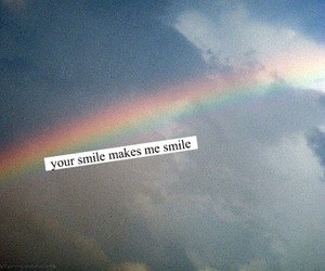 rainbow, smile, and text image