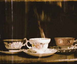 vintage, tea, and teacup image