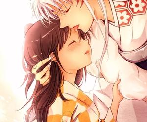 anime and sesshomaru and rin image