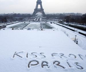 paris, kiss, and snow image