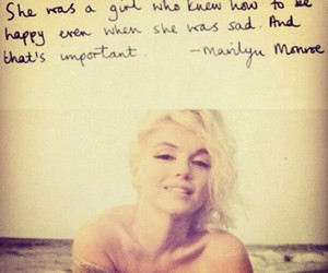 Marilyn Monroe, quotes, and happy image