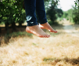 feet, jump, and nature image