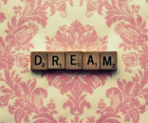 Dream, pink, and scrabble image