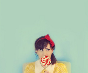 color, lollipop, and red bow image