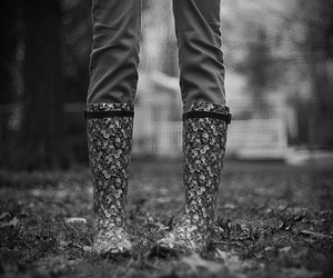 b&w, faceless, and boots image