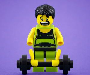 hands, lego, and weightlifter image