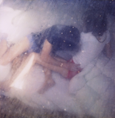 girl, couple, and bed image