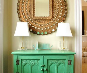 home, green, and mirror image