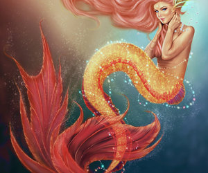 anime, mermaid, and deviantart image