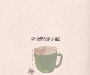 tea, cup, and bed image