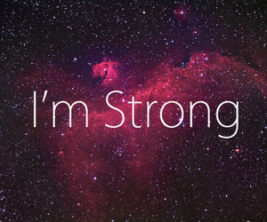 strong, quote, and galaxy image