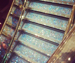 glitter, stairs, and luxury image