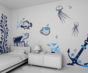 Houses, marine life, and oceans image