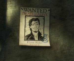 tangled, flynn rider, and wanted image