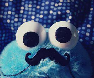 mustache, blue, and moustache image