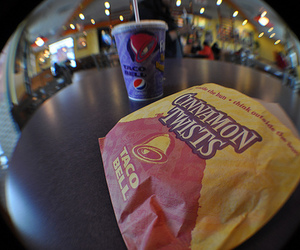 cool, taco bell, and fisheye lens image