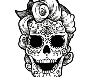 day of the dead, draw, and illustration image