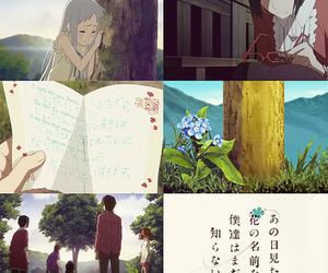 anime, japan, and ano hana image