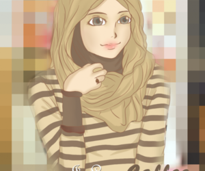 islam, cute, and girl image