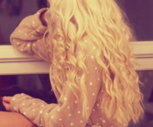 hair, blonde, and girl image