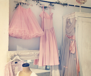 dress, pink, and pastel image