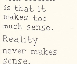reality, fiction, and quote image