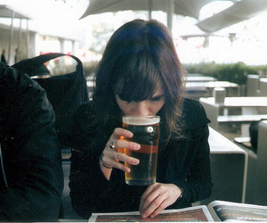 drink, indie, and girl image