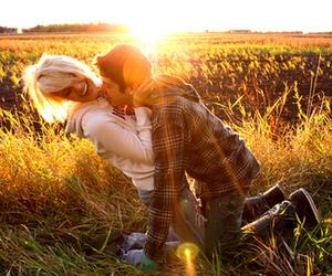 couple, kiss, and light image