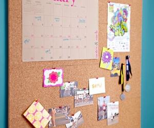 board, papers, and corkboard image