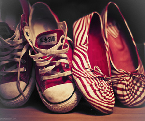 shoes, red, and converse image