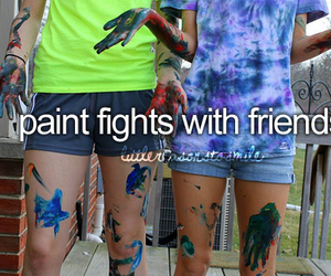 fight, girl, and paint image