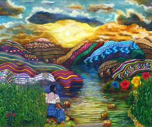 art, mexico, and mountains image