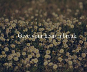 quote, heart, and break image