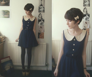 fashion, vintage, and bow image