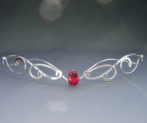 ruby, silver, and circlet image