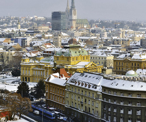snow and zagreb image