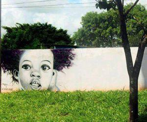 art, hair, and tree image